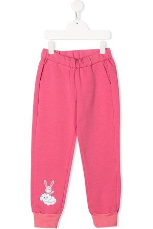Simonetta Bunny print elasticated track pants