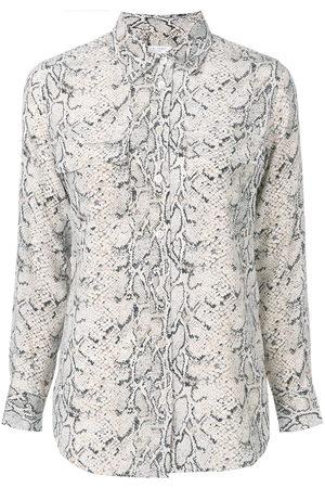 Equipment Women Shirts - Signature slim-fit silk shirt - Neutrals