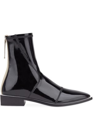 Fendi FFrame pointed toe ankle boots - Neutrals