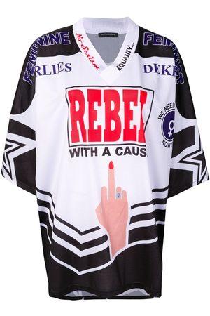 Marlies Dekkers Feminist Rebel American football jersey T-shirt