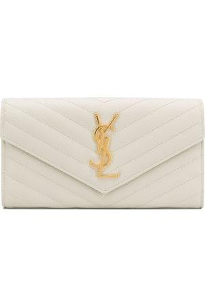 Saint Laurent Quilted wallet - Neutrals