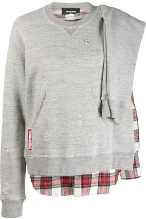 Dsquared2 Check detail sweatshirt - Grey