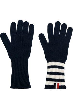 Thom Browne Men Gloves - 4-bar cashmere gloves