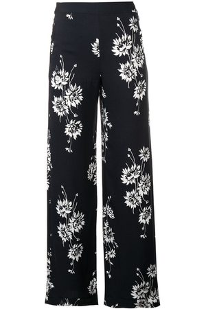 McQ Women Straight Leg Pants - Floral printed trousers