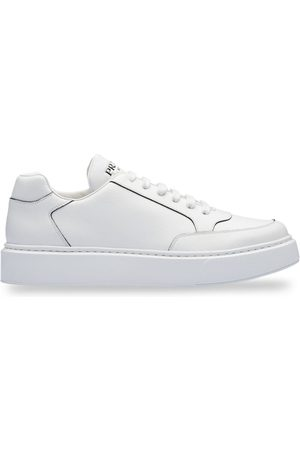 Prada Piped-trim flatform sneakers