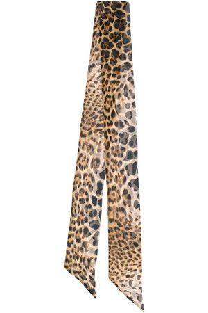 Saint Laurent Women Scarves - Leopard print skinny scarf