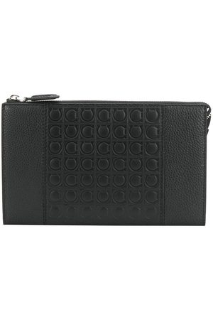 Salvatore Ferragamo Men Bags - Embossed Gancio clutch