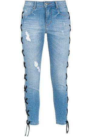 AMAPÔ Women Skinny - Lace-up skinny jeans