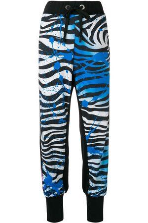 NO KA' OI Zebra print track trousers