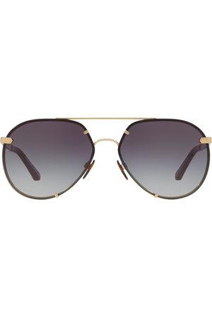 Burberry Eyewear Check detail aviator sunglasses