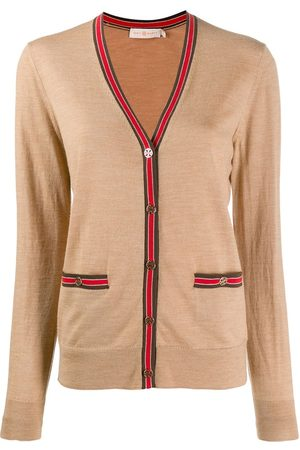 Tory Burch Women Cardigans - Contrast trim cardigan - Neutrals