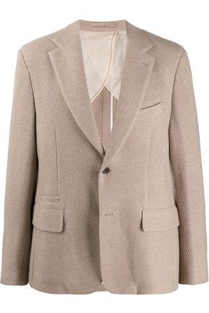 Salvatore Ferragamo Woven blazer jacket - Neutrals