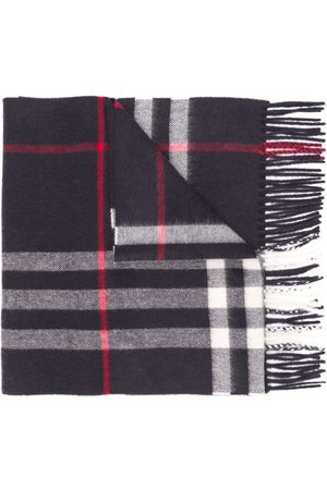 Burberry Women Scarves - Fringed check scarf