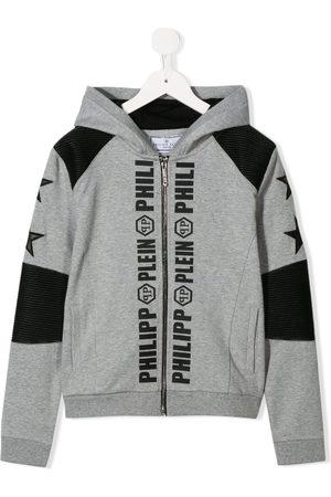 Philipp Plein Logo print hoodie - Grey