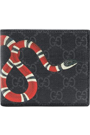 Gucci Men Wallets - Kingsnake print GG Supreme wallet