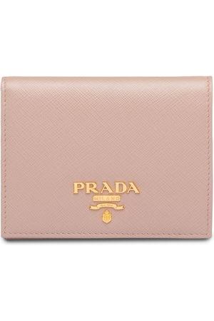 Prada Women Wallets - Saffiano foldover wallet