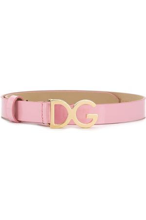 Dolce & Gabbana DG-logo patent leather belt