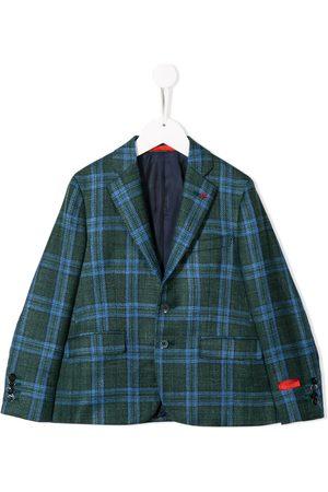 ISAIA Boys Blazers - Slim-fit plaid blazer