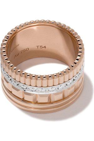 Boucheron Women Rings - 18kt rose gold Diamond Quatre Radiant large ring - PG