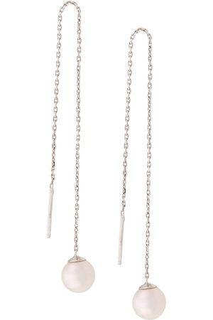 Redline 18kt white Sensuelle akoya pearl chain earrings