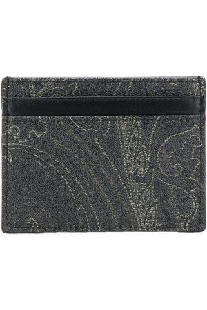 Etro Men Wallets - Paisley print cardholder
