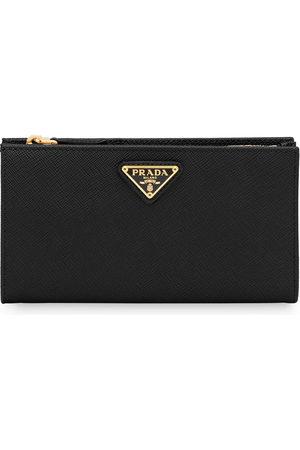 Prada Women Wallets - Logo-plaque zipped wallet