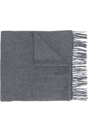 N.PEAL Large woven scarf - Grey