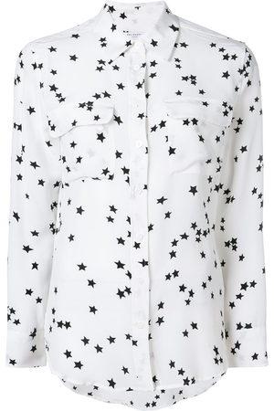 Equipment Silk star print shirt