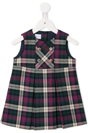 Familiar Sleeveless tartan pattern dress - Multicolour
