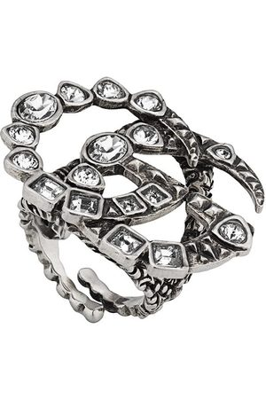 Gucci Crystal Double G ring