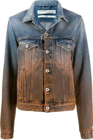 OFF-WHITE Women Denim Jackets - Degrade denim jacket