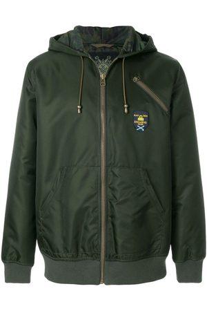 Mr & Mrs Italy Men Hoodies - Logo print zipped hoodie