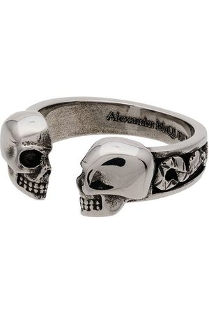 Alexander McQueen Skull Head Ring - Metallic
