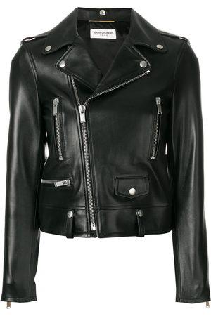 Saint Laurent Zip-up leather biker jacket