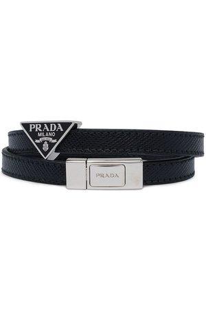 Prada Logo plaque wrap bracelet