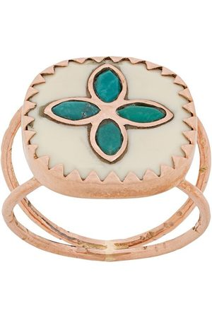 Pascale Monvoisin 9kt rose Bowie N°2 white turquoise ring