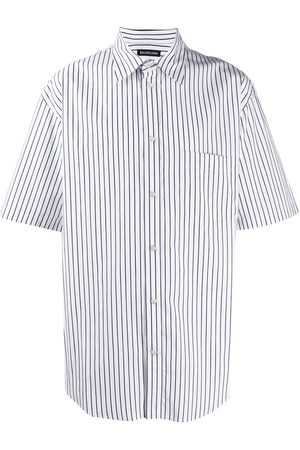 Balenciaga Men Short sleeves - Striped short sleeves shirt