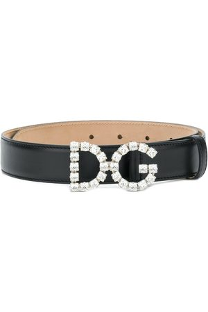 Dolce & Gabbana Crystal-embellished logo buckle belt