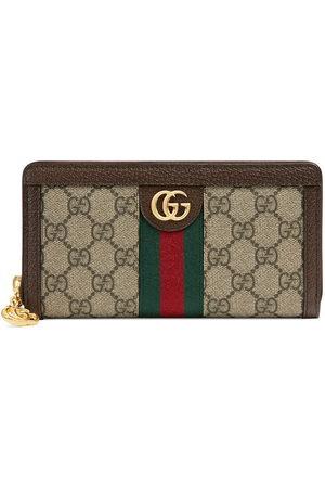 Gucci Beige Ophidia GG zip around wallet - Neutrals