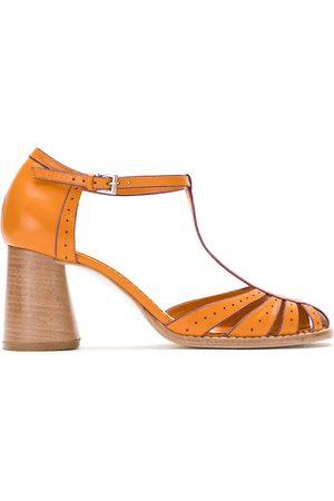 Sarah Chofakian Women Pumps - Block heel leather pumps