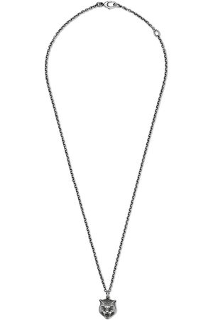 Gucci Necklace in with feline head - Metallic