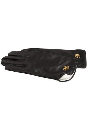 Gucci Men Gloves - Leather gloves with Double G