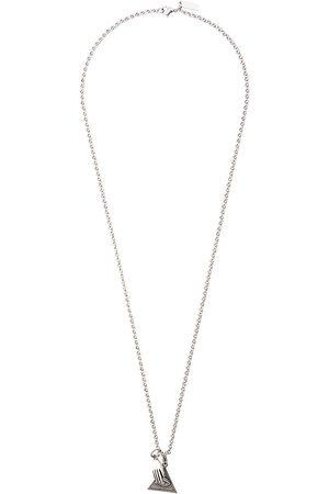 Nialaya Jewelry Eye of ra triangle and hamsa hand pendant necklace