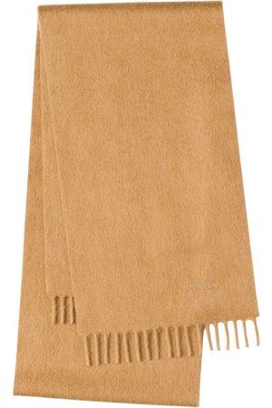 Prada Logo embroidered scarf - Neutrals