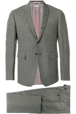 Thom Browne Classic Suit With Tie In 2ply Fresco - Grey