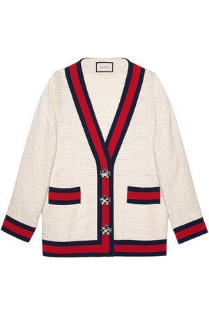 Gucci Women Cardigans - Oversize tweed cardigan jacket - NEUTRALS