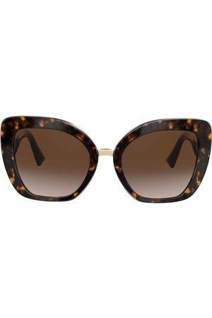 VALENTINO Women Sunglasses - Two-tone cat eye V logo sunglasses