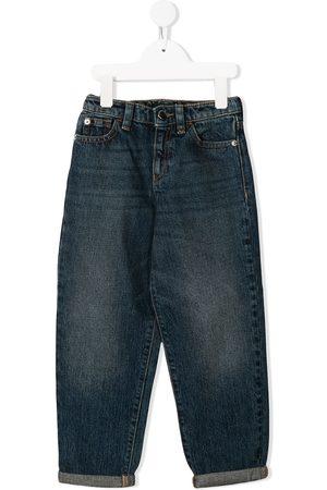 Emporio Armani Girls Straight - Logo straight-leg jeans