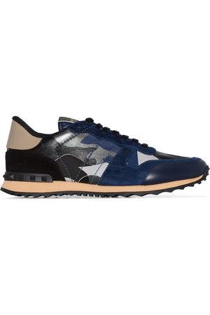 VALENTINO Men Sneakers - Garavani Rockstud Rockrunner Camouflage Leather Sneakers