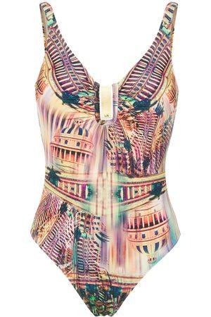 Lygia & Nanny Mirassol printed swimsuit - HAVANA